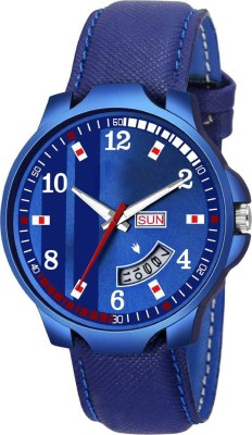 Heeva HV-Shining Blue Dial Watch For Boys Day And Date Series 2038-BLW Watch - For Men Analog Watch  - For Men