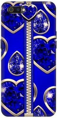 UMPRINT Back Cover for Realme C2(Zipper, Blue, Tischert, Diamond, Shock Proof)