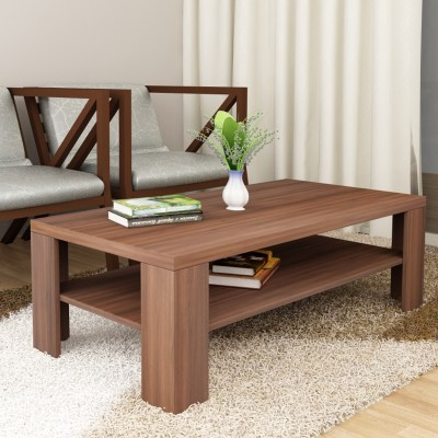 Crystal Furnitech Avril Engineered Wood Coffee Table(Finish Color - Black HGl + Cairo Wallnut)
