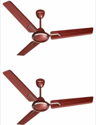Havells Andria 1200 mm 3 Blade Ceiling Fan(Maroon, Pack of 2)