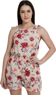 Floral Print Women Jumpsuit