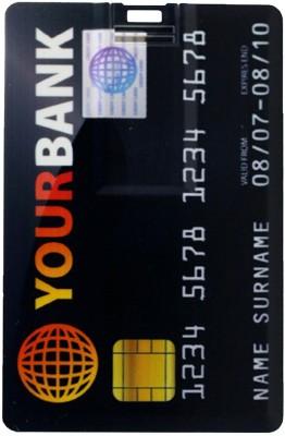 Tobo Bank card shaped smil Credit card USB2.0 Flash Pendrive.8 GB 8  GB Pen Drive Multicolor  Tobo Pen Drives