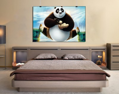 GWSJ-13406 Printed Kung Fu Panda 3 Non Sticking Without Frame Canvas Canvas Art(20 inch X 44 inch)