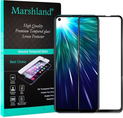 Marshland Tempered Glass Guard for Vivo Z1 Pro D Plus Full Glue, 9H Hardness Crystal Clear Screen Protector Anti Scratch Bubble Free Black(Pack of 1)