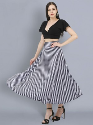BuyNewTrend Striped Women Layered Multicolor Skirt