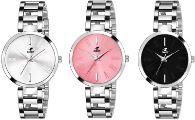 Espoir CMWPB050708 Stainless Steel Chrome Plated Analog Watch  - For Women
