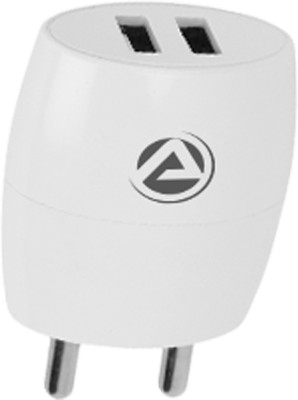 ARU Dual USB Wall Charger 245 52.1 W 2.1 A Multiport Mobile Charger with Detachable Cable(White, Cable Included)