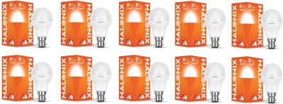 Halonix 9 W Round B22 LED Bulb(White, Pack of 10)