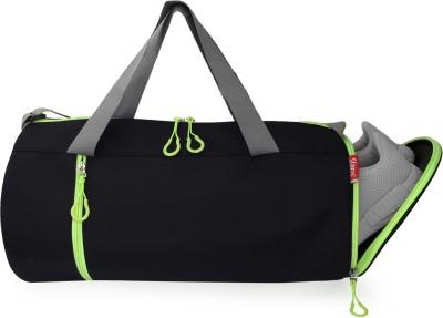 Sfane Men & Women Neon Black with Separate Shoe Compartment Sports Duffel Gym Duffel Bag