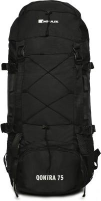 IMPULSE Qontra 75 Litres Black Rucksack - 75 L(Black)