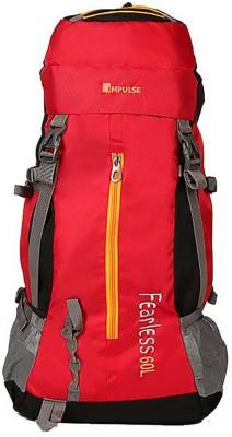 Impulse Fearless Rucksack  - 60 L(Red) at flipkart