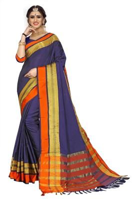 Aroziya Solid Fashion Tussar Silk Saree Multicolor