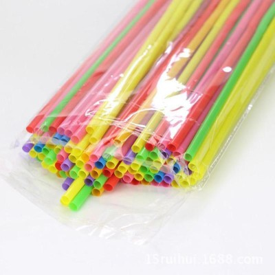 GADGETSMORE Straight Drinking Straw(Multicolor, Pack of 100)