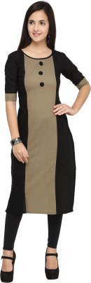 Hetvi Creation Formal Self Design Women Kurti(Grey)