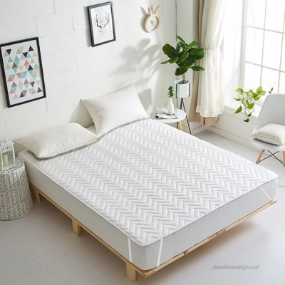 HOME WAY Elastic Strap King Size Waterproof Mattress Protector(White)