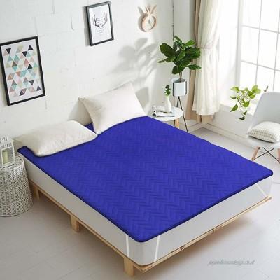 HOME WAY Elastic Strap King Size Waterproof Mattress Protector(Blue)