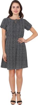 SBO Fashion Women A line Black Dress