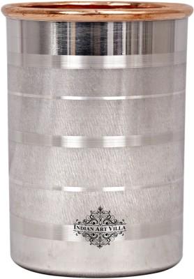 IndianArtVilla Steel Copper Glass,Drinkware & Tableware, Maintainance Free Design,250 ML Glass(Copper, 250 ml, Brown, Pack of 1)