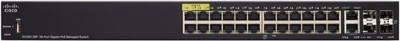 Cisco SG350-28P-K9-EU 28-Port Gigabit PoE Managed Network Switch (Black)