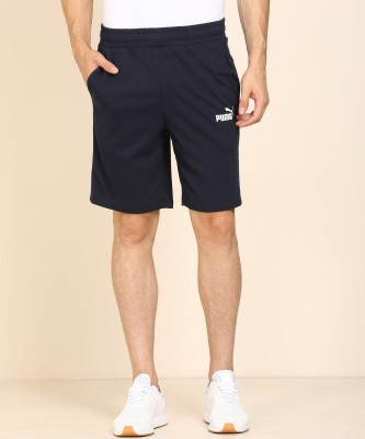 Puma Solid Men Dark Blue Regular Shorts