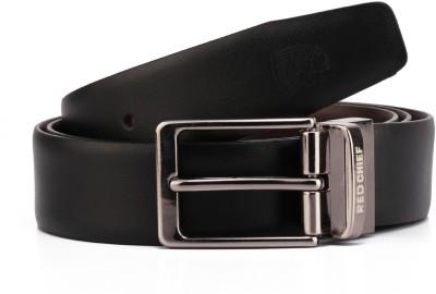 Red Chief Men Formal Black Genuine Leather Reversible Belt
