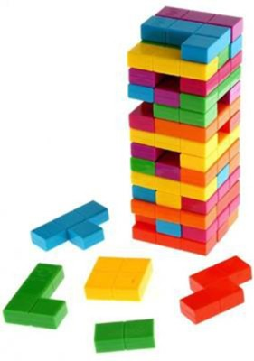 RVM Toys Colorful Combine Jenga Tetris Tower Up Stacking Game Set for Kids Multicolor RVM Toys Blocks   Building Sets