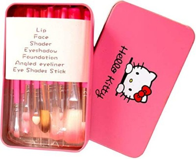 Hello Kitty Makeup Brushes Kit with Metal Storage Box(Pack of 12)