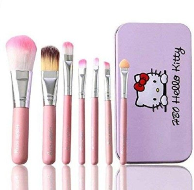 Hello Kitty Complete Makeup Brush Kit(Pack of 7)