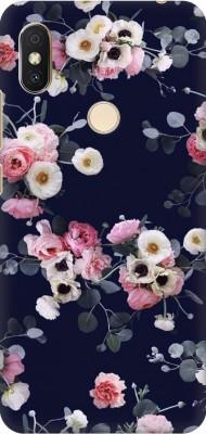 Coberta Case Back Cover for Mi Redmi Y2(Multicolor Beautiful Flowers Reb white yellow floral for women Design Designer Print Printed Design, Hard Case)
