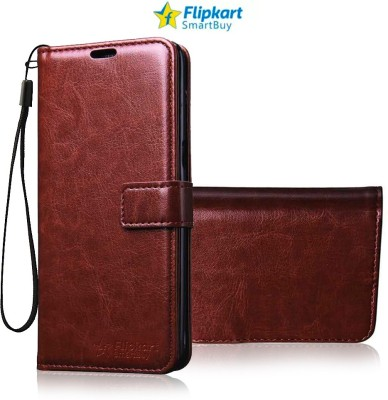 Flipkart SmartBuy Flip Cover for Mi Redmi Note 7, Mi Redmi Note 7 Pro, Mi Redmi Note 7S(Brown, Dual Protection)