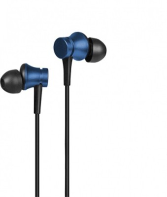 Gadget Phoenix GP-Mi Earphones Basic (with in-built mic) Blue 3.5mm Jack Audio Wired Headset with Mic(Blue, In the Ear)