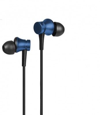 TruOm  Earphones Handsfree Basic with Mic (Black) For Mi Wired Headset with Mic(White, In the Ear)