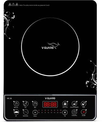 V-Guard VIC 25 (2000 W) Induction Cooktop(Black, Push Button)