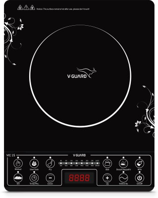 V-Guard VIC 15 (2000 W) Induction Cooktop(Black, Push Button)