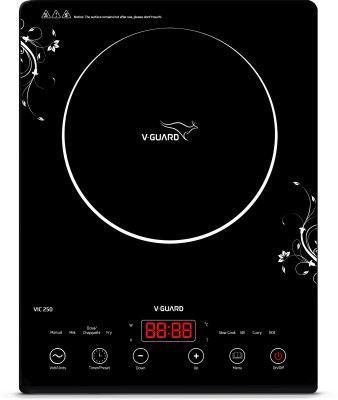V-Guard VIC 250 (2000 W) Induction Cooktop(Black, Touch Panel)