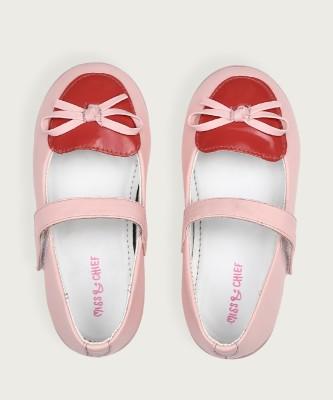 Miss & Chief Girls Velcro Ballerinas(Pink) at flipkart