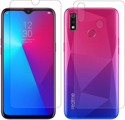 Vonqo Front and Back Screen Guard for Realme 3, Realme 3i, Vivo Y93(Pack of 2)