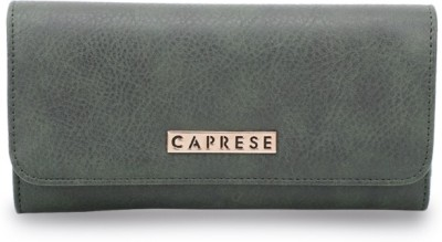 Caprese Women Green Artificial Leather Wallet(6 Card Slots)