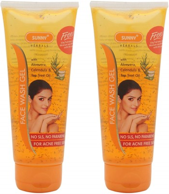 Sunny Face Wash Gel with Tea Tree- Pack of 2, Face Wash(200 g)