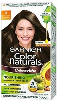 Garnier COLOR NATURALS CREME RICHE NOURISHING HAIR COLOR 130ML Hair Color(DARKEST BROWN)