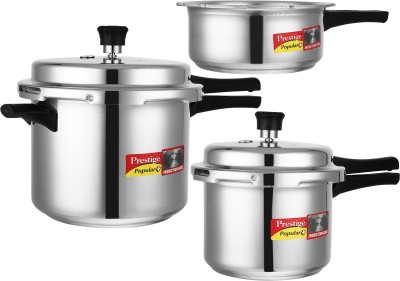 Prestige Popular Plus 2 L, 3 L, 5 L Induction Bottom Pressure Cooker(Aluminium)
