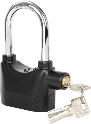ASTOUND Alarmed Padlock - Heavy Duty Weatherproof Long Shackle Padlock Safety Lock(Black)