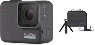 GoPro Hero7 (Travel Kit) Sports and Action Camera(Silver, 10 MP)