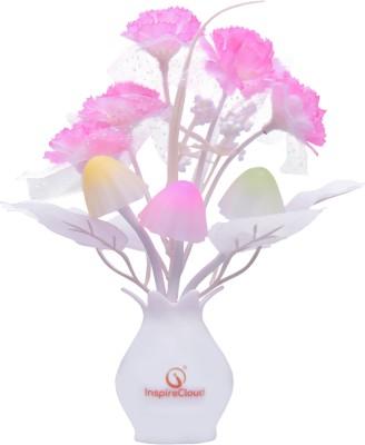 InspireCloud Energy Saving Colour Changing Automatic Sensor Mushroom Shaped (Pink) Night Lamp(16...
