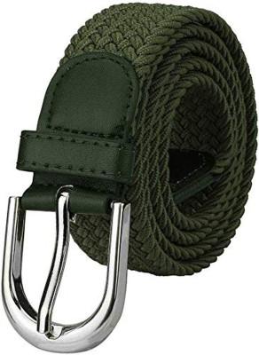 sskk Men & Women Casual Green Canvas Belt