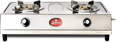 Jindal 2 Burner Superior Cooktop Smart Stainless Steel Manual Gas Stove(2 Burners)