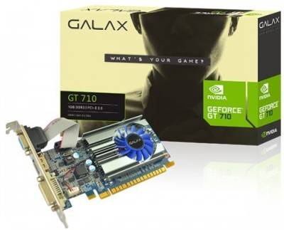 galax NVIDIA GEFORCE GT 710 2GB 2 GB GDDR3 Graphics Card(Black)