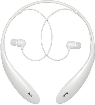 Aarzoomic Best HBS-800 headphone Bluetooth Bluetooth Headset with Mic(White, In the Ear)