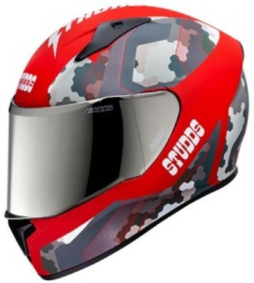 Studds Thunder D5-N2 Decor Motorbike Helmet(D5 Matt Red N2 Red)