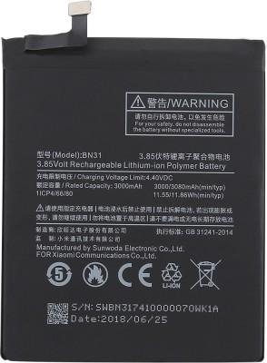 Longan Mobile Battery For Xiaomi Redmi Y2 (Stunning Black, 3GB RAM, 32GB ROM) | BN31 | 3080mAh